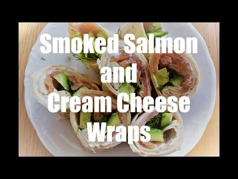 Smoked Salmon And Cream Cheese Wraps