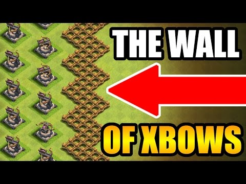 Clash Of Clans - WALL OF XBOWS vs 999 TROOPS!! - EPIC MASS GAME PLAY!