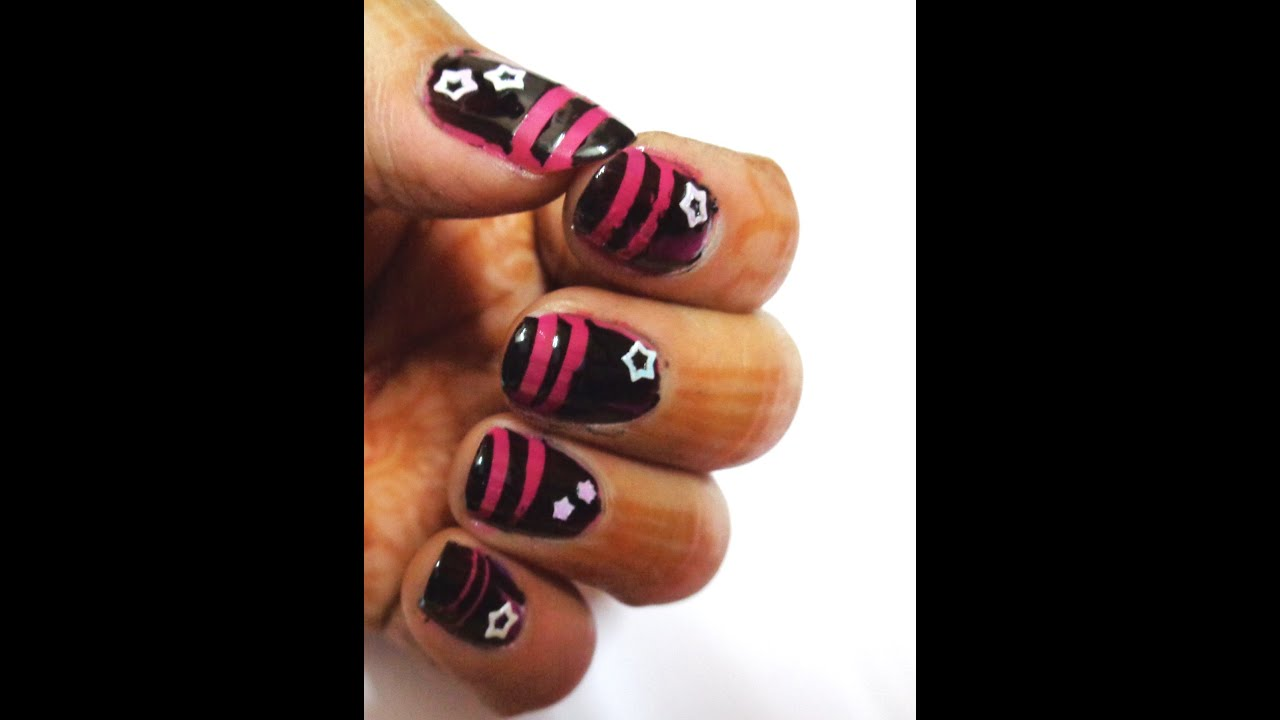 how to make nice nail art - K11 - YouTube