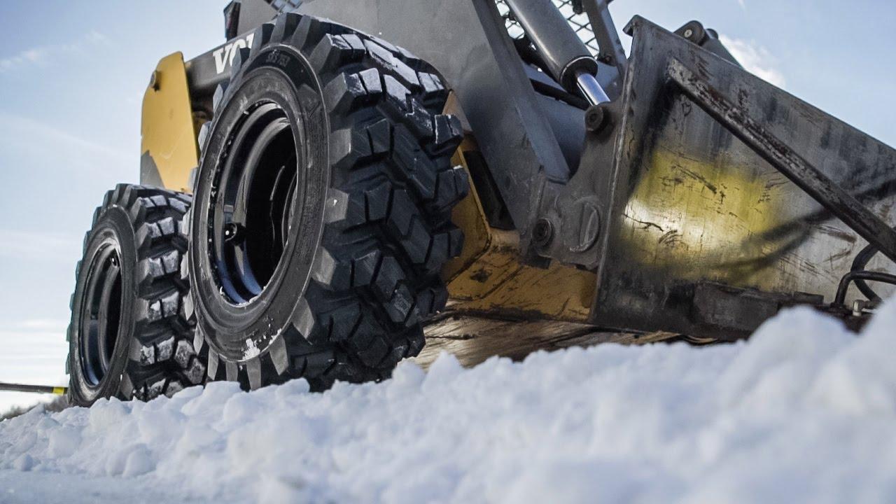 Atv Winter Tires >> Winter Skid Steer Tires - Camso SKS 753 - YouTube