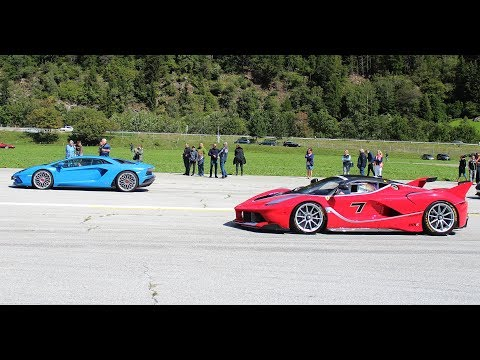 THE ULTIMATE DRAGRACE – LaFerrari FXX-K, Mclaren P1, F12 TRS, Mercedes CLK GTR & MORE