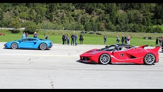 THE ULTIMATE DRAGRACE - LaFerrari FXX-K, Mclaren P1, F12 TRS, Mercedes CLK GTR & MORE