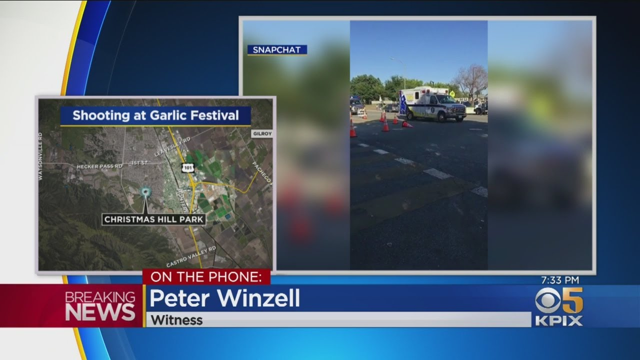 Christmas Hill Park Shooting.Witness Describes Shooting At Gilroy Garlic Festival
