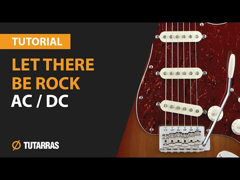 LET THERE BE ROCK  ACDC How to play  Electric GUITAR LESSON
