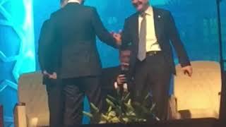Hazine ve Maliye Bakanı Albayrak ile İçişleri Bakanı Soylu'nun şakalaşmaları kameralara yansıdı