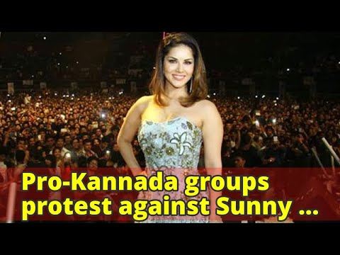 Pro-Kannada groups protest against Sunny Leone's New Year party in Bengaluru | The Indian Express