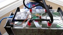 First Time Powering Up Bitmain Antminer S5 with Enclosure & Quieter Fan - Bitcoin Miner
