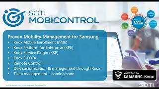 Knox Partner Program Joint Webinar with SOTI Inc. - SOTI ONE and Samsung Knox integration