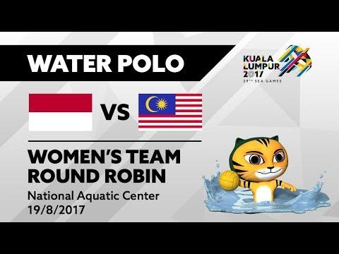 KL2017 29th SEA Games | Women's Water Polo - INA 🇮🇩 vs MAS 🇲🇾