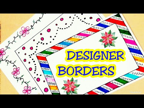Border designs | project design | project design ideas | file decoration ideas school easy | borders