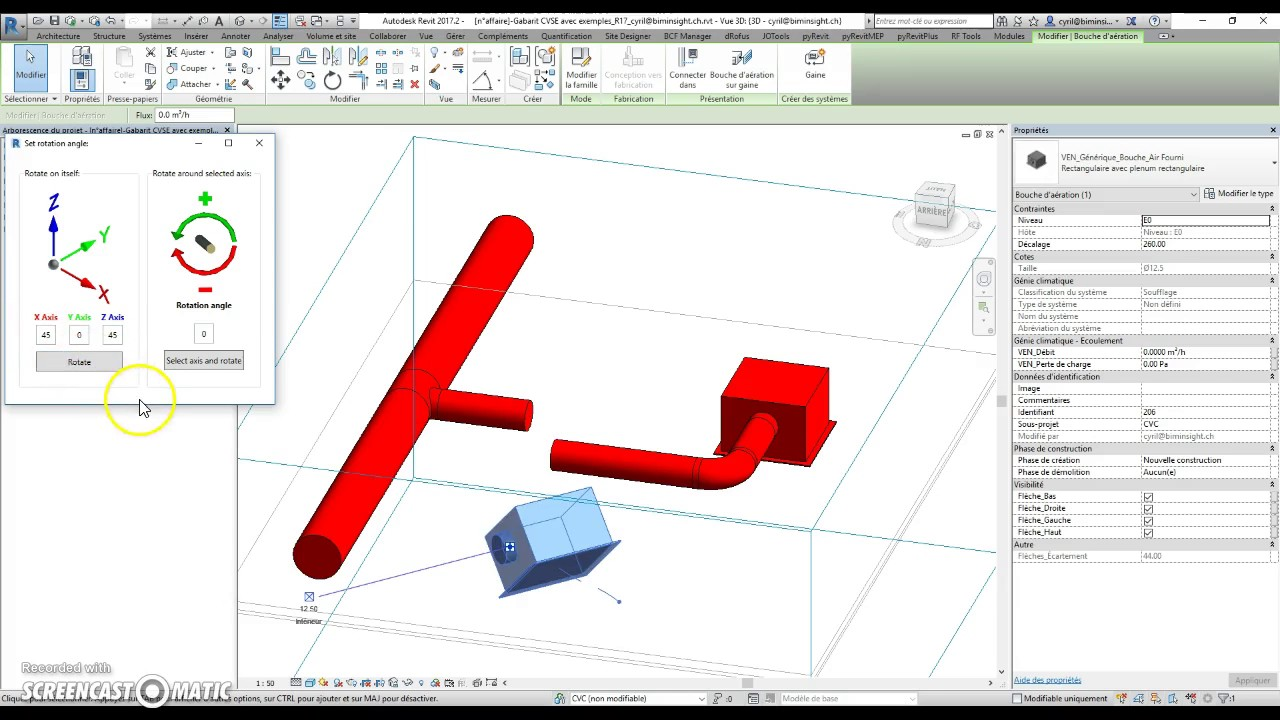 Revit] Rotate elements in any direction script – Python HVAC