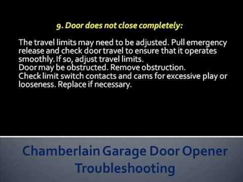 Chamberlain Garage Door Opener Troubleshooting  How To Troubleshoot Chamberlain Garage Door