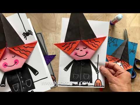 Halloween Bastelideen Youtube.Origami Witch Youtube