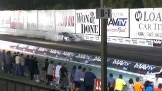 AMG Mercedes Blows Tranny Irwindale drag
