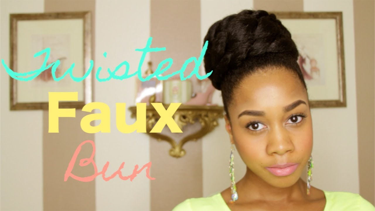 twisted faux bun hair tutorial