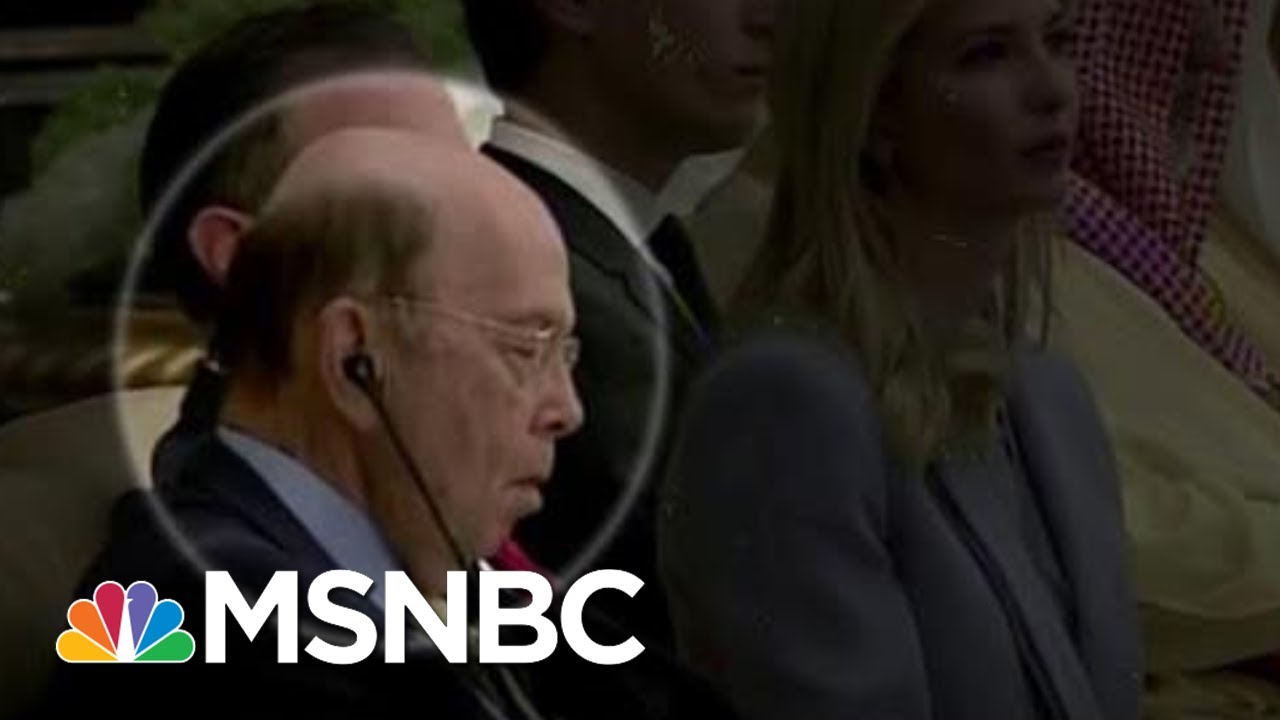 Image result for image of wilbur ross sleeping