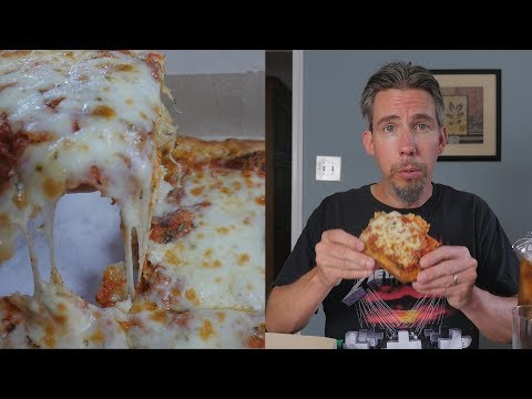 ASMR Let's Eat Sicilian Pizza (with Iced Tea)