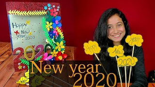 How to make happy new year card 2020 New year greetings card Latest design handmade Gift idea