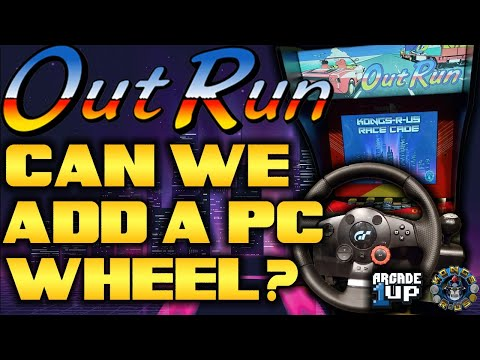 Adding a Logitech PC Wheel to an OutRun Arcade1Up! LIVE Modding Session from Kongs-R-Us
