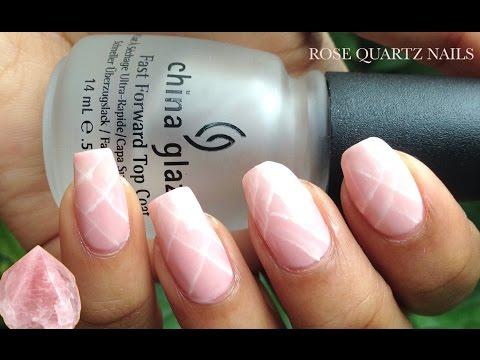 EASY Rose Quartz Nails | NO GEL