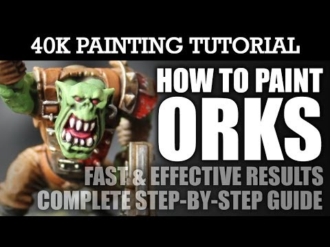 How To Paint ORKS Painting Tutorial (Use this technique for ALL Ork units/vehicles): HD