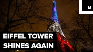 The Eiffel Tower is Shining Again, in France