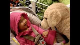 Baby Laughing Hysterically at Toy Dog