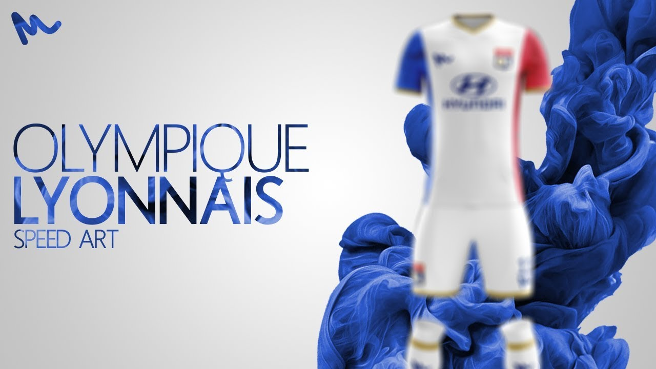20ec13820 Olympique Lyonnais Kit Design    Speed Art - YouTube