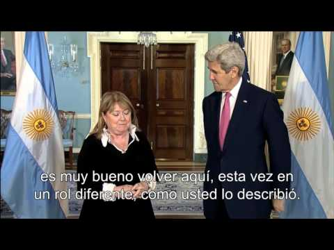John Kerry recibe a Susana Malcorra en Washington