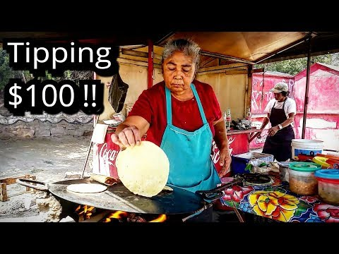 TIPPING $100 Dollars - MEXICAN Street Food - MONEY Sent From SUBSCRIBERS!!!