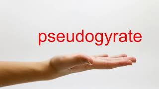 How to Pronounce pseudogyrate - American English