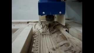 Рама для картины - изготовление на станке CNC-1318(Показан процесс изготовления рамы для картины на станке с ЧПУ CNC-1318. Чистовая обработка конусной фрезой..., 2014-04-29T18:49:54.000Z)