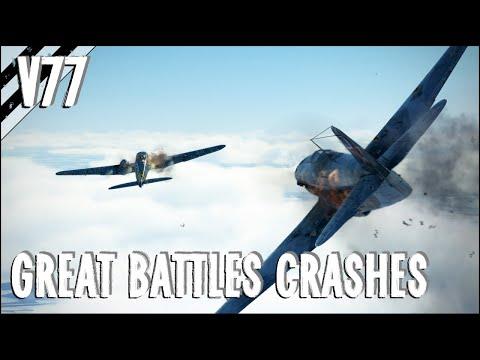 Pilot Kills, Takedowns, Fires, Crashes & More! V77   IL-2 Great Battles Crash Compilation