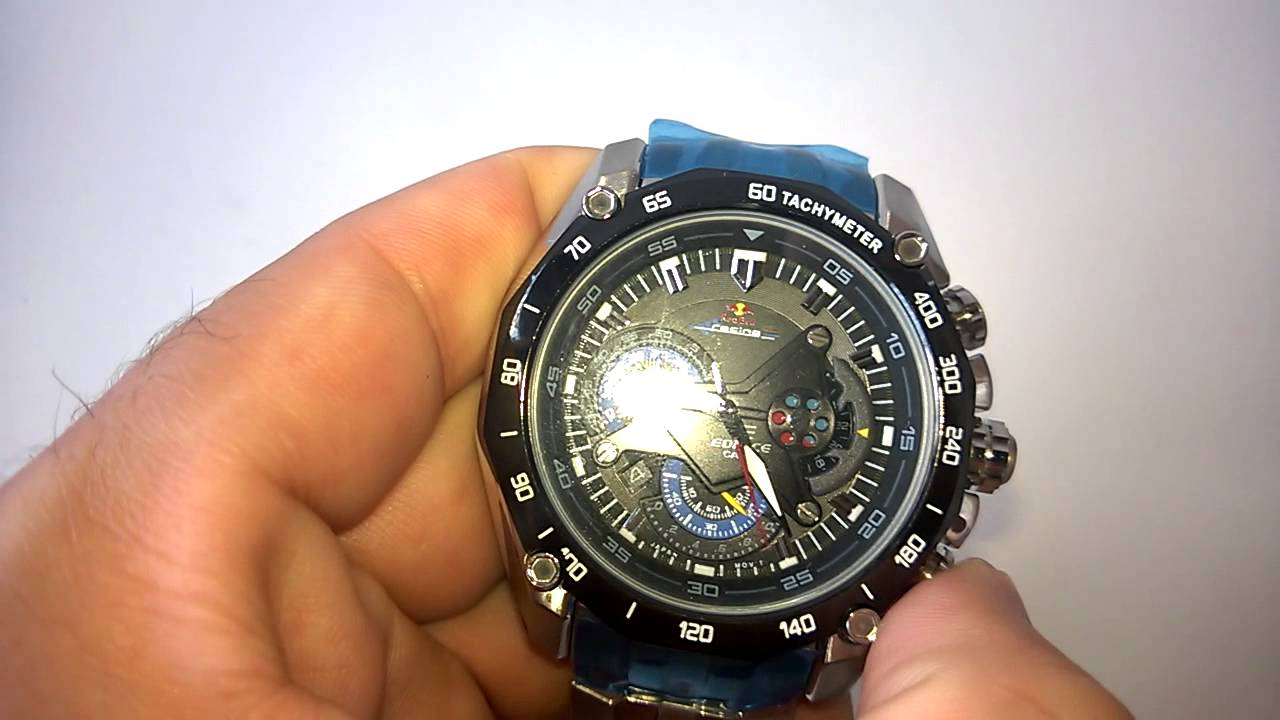6e07cb7e6de Relógio Casio Edifice - EF 550 - Red Bull - YouTube