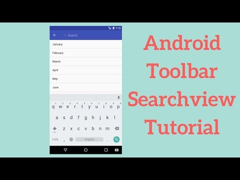 Android Toolbar Searchview Tutorial - Coding Demos