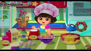 Jeux educatif pour Enfants - Dora l'exploratrice en Francais | Dora prépare un gâteau pour Noel