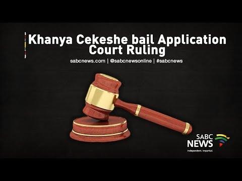 Judgment in Kanya Cekeshe bail application, 14 October 2019
