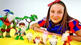 Игрушечные Супер Истории - Развивающее видео - Белоснежка и 7  гномов