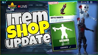 🆕MenamesCho's LIVE 🔴 ITEM SHOP UPDATE 🚀 BOTTLE ROCKETS AIRHORN FORTNITE BATTLE ROYALE - 03 02 19