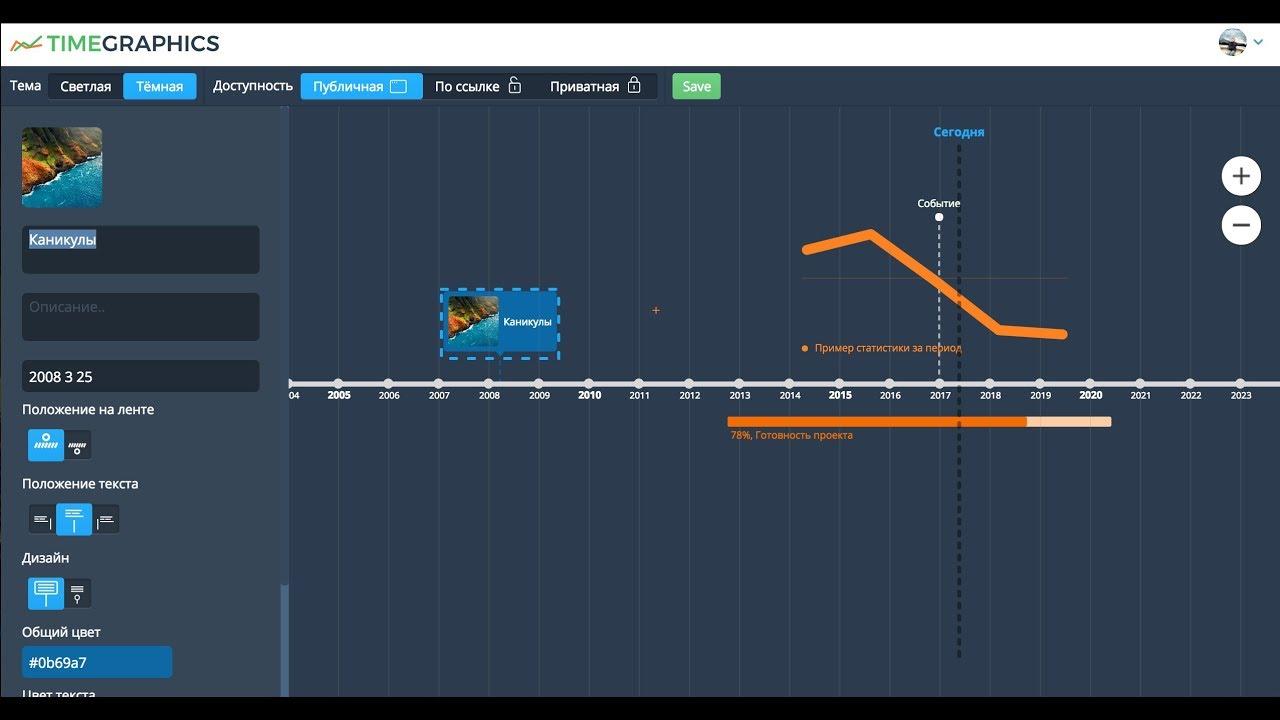 v1 0  Timeline free online editor  Example