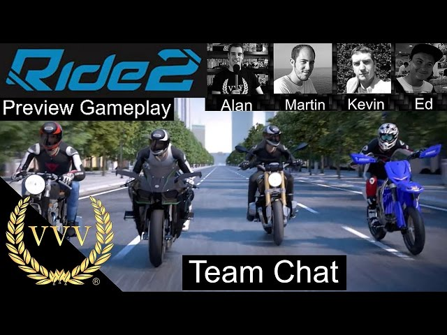 Ride 2 Exclusive PS4 Gameplay Preview Team Chat