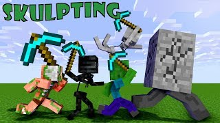 - Monster School Sculpting Minecraft Animation