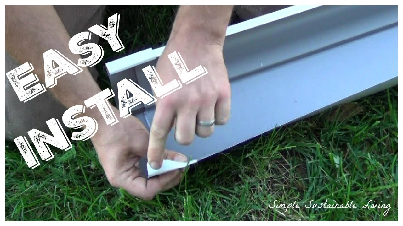 Installing Home Depot Gutters Youtube
