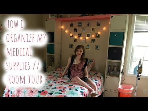 How I Organize My Medical Supplies // Room tour