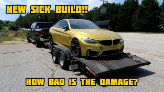 Rebuilding A Wrecked 2016 BMW M4 WITH FRAME DAMAGE