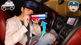 USING FAKE POLICE LIGHTS PULLOVER PRANK... Then This Happens   David Vlas