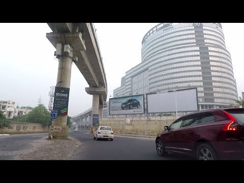Driving in Gurgaon (Sector 24 to Sector 25) - Haryana, India