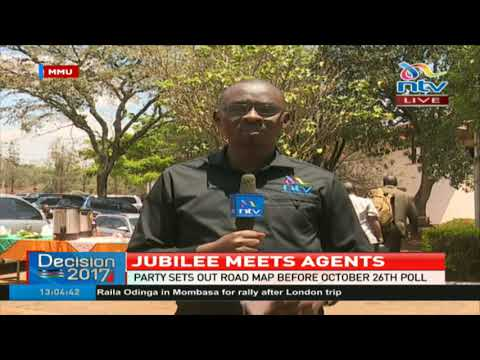 Jubilee meets agents in preparation for October 26th poll
