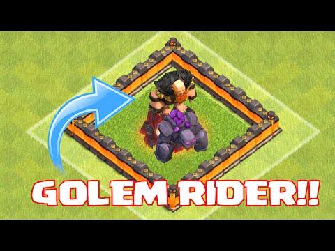 Clash Of Clans - GOLEM RIDERS!! (9th perk pushing!)