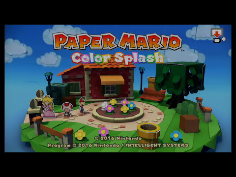 Paper Mario Color Splash ALL Flags In 15:34:28